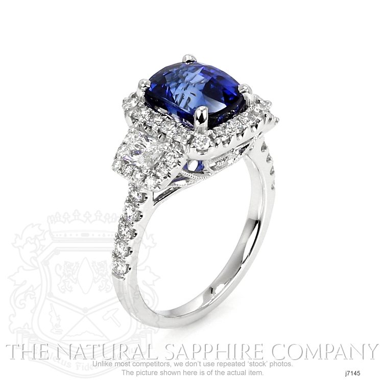 3.68ct Blue Sapphire Ring Image 2