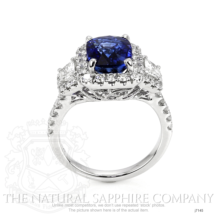 3.68ct Blue Sapphire Ring Image 4