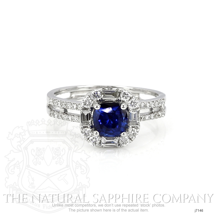 0.80ct Blue Sapphire Ring Image