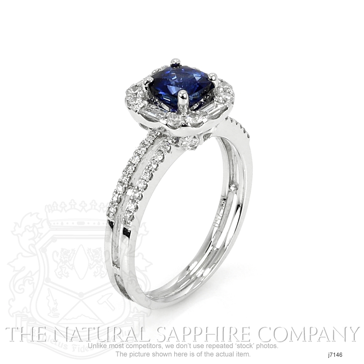 0.80ct Blue Sapphire Ring Image 2
