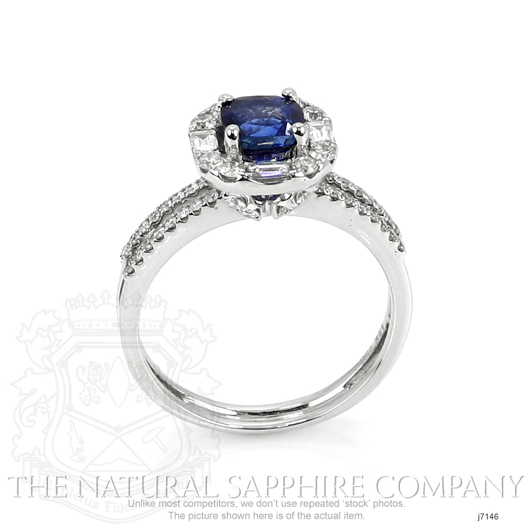 0.80ct Blue Sapphire Ring Image 4