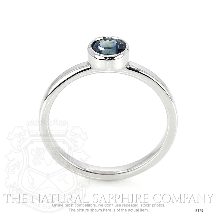 0.72ct Blue Sapphire Ring Image 4