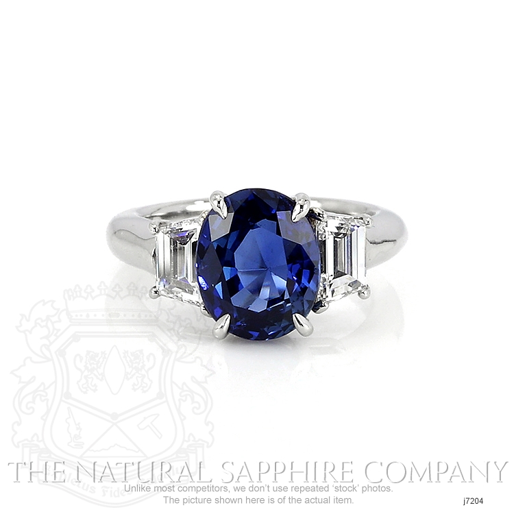 4.28ct Blue Sapphire Ring Image