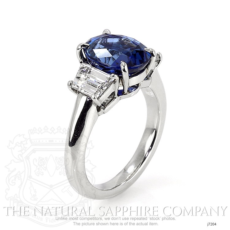 4.28ct Blue Sapphire Ring Image 2