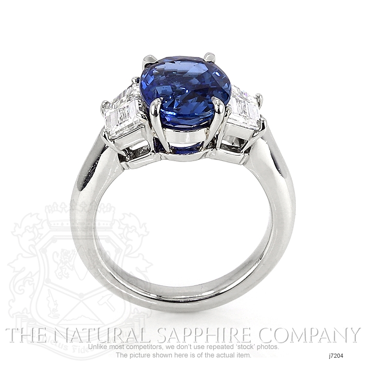 4.28ct Blue Sapphire Ring Image 4