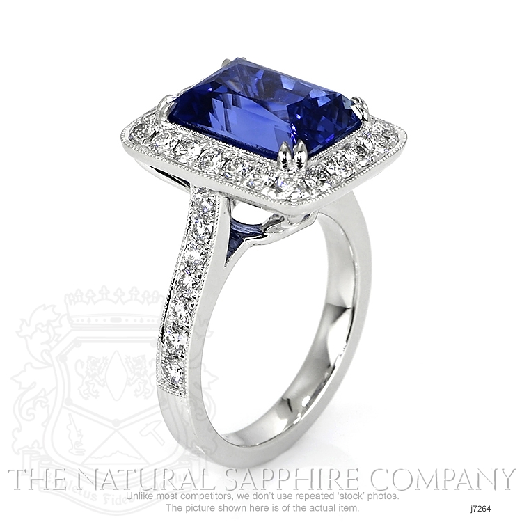 10.55ct Blue Sapphire Ring Image 2