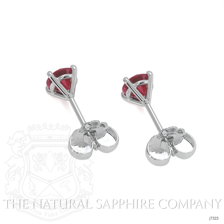 0.82ct Ruby Earring Image 4