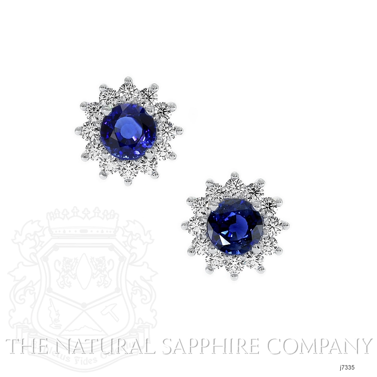 1.66ct Blue Sapphire Earring Image