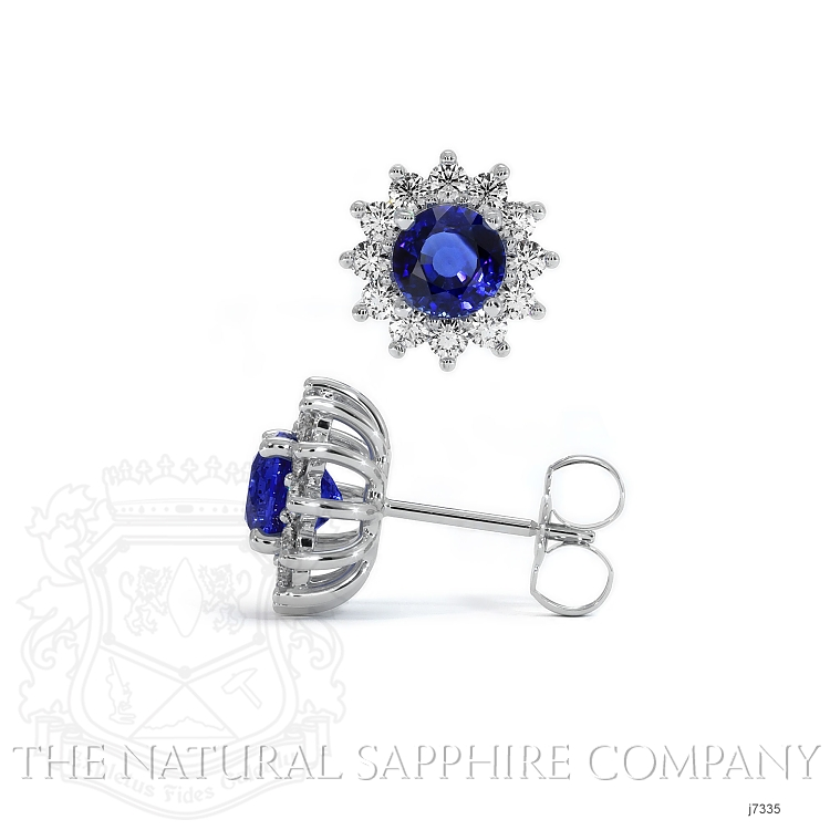 1.66ct Blue Sapphire Earring Image 2