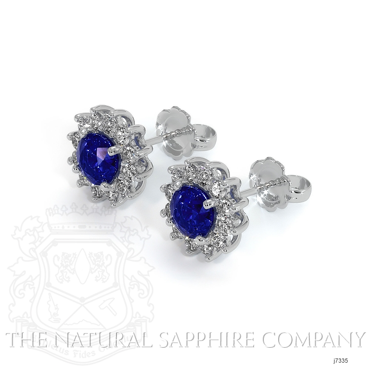 1.66ct Blue Sapphire Earring Image 3