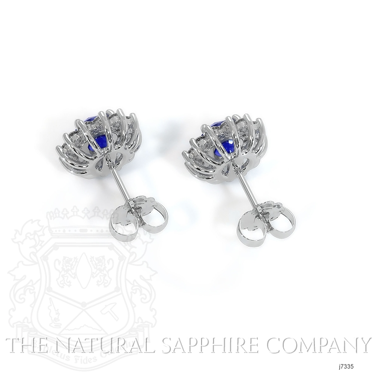 1.66ct Blue Sapphire Earring Image 4