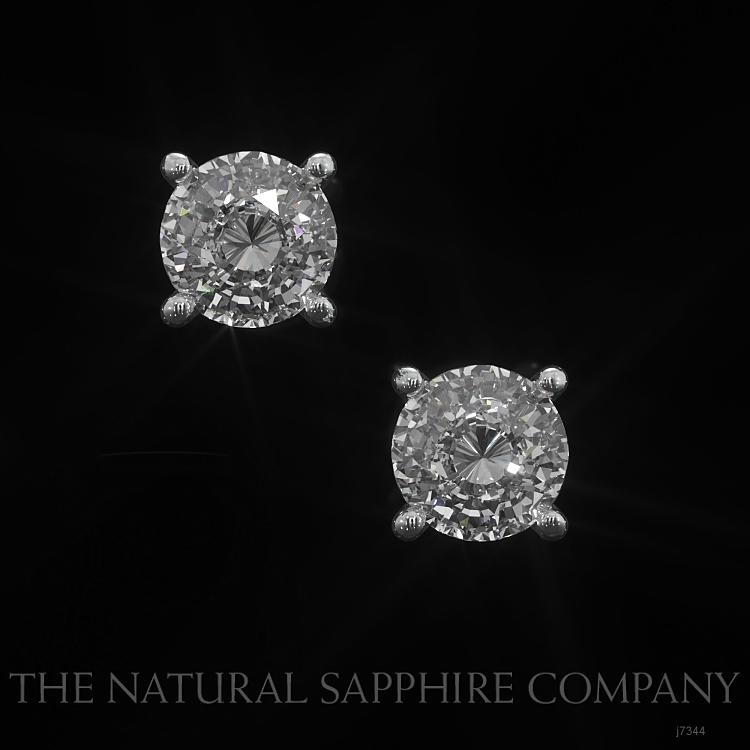 1.00ct White Sapphire Earring Image