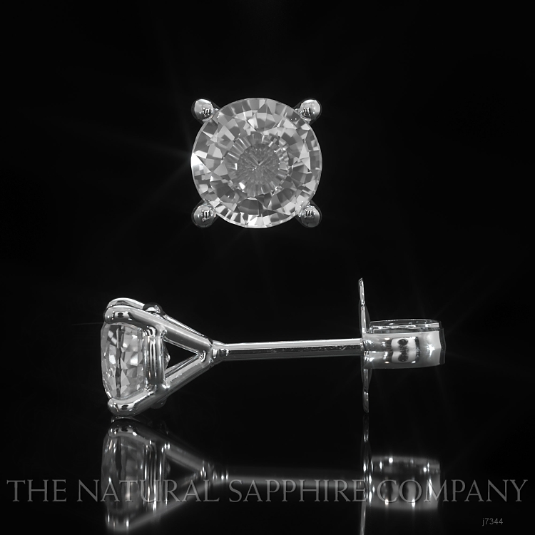 1.00ct White Sapphire Earring Image 2