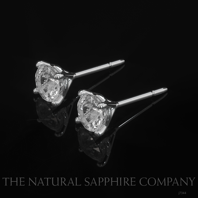1.00ct White Sapphire Earring Image 3