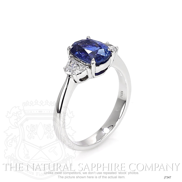 2.38ct Blue Sapphire Ring Image 2