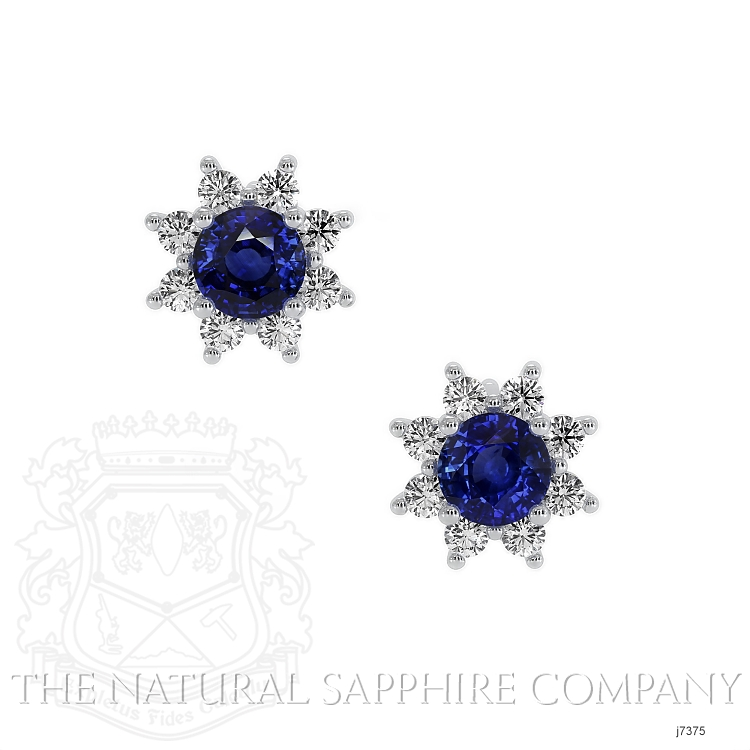 0.85ct Blue Sapphire Earring Image
