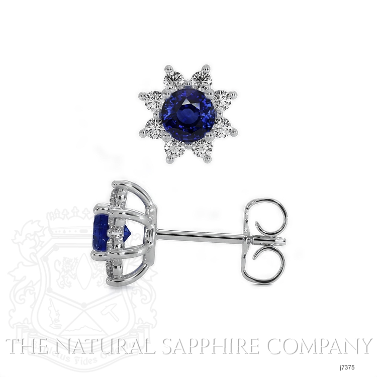 0.85ct Blue Sapphire Earring Image 2