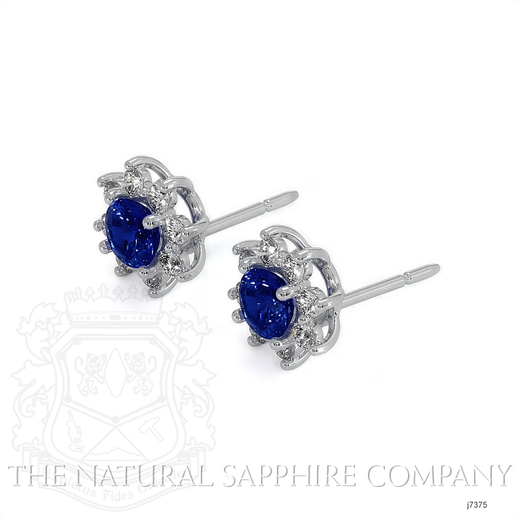 0.85ct Blue Sapphire Earring Image 3