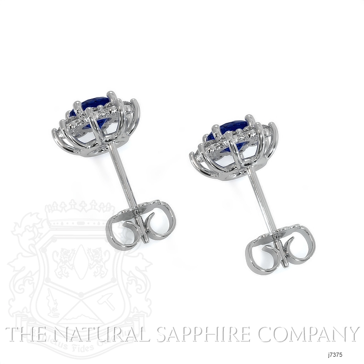 0.85ct Blue Sapphire Earring Image 4