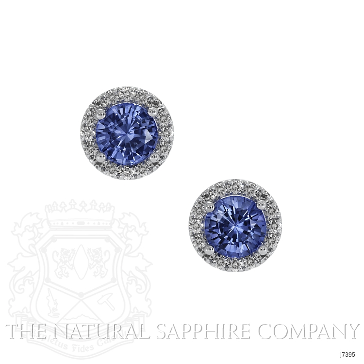 0.65ct Blue Sapphire Earring Image