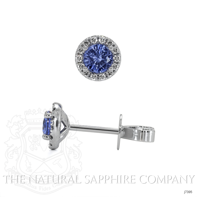 0.65ct Blue Sapphire Earring Image 2