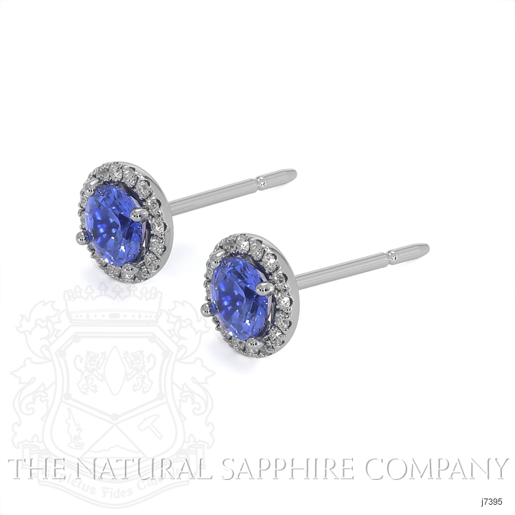 0.65ct Blue Sapphire Earring Image 3