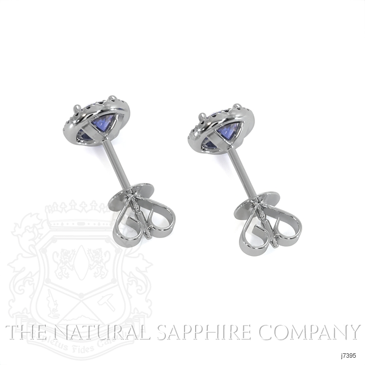 0.65ct Blue Sapphire Earring Image 4