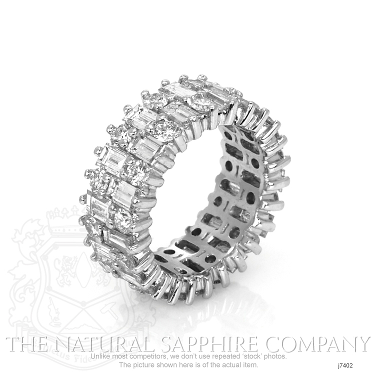 5.20ct White Diamond Band Image 2