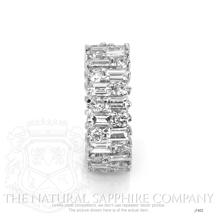 5.20ct White Diamond Band Image 3