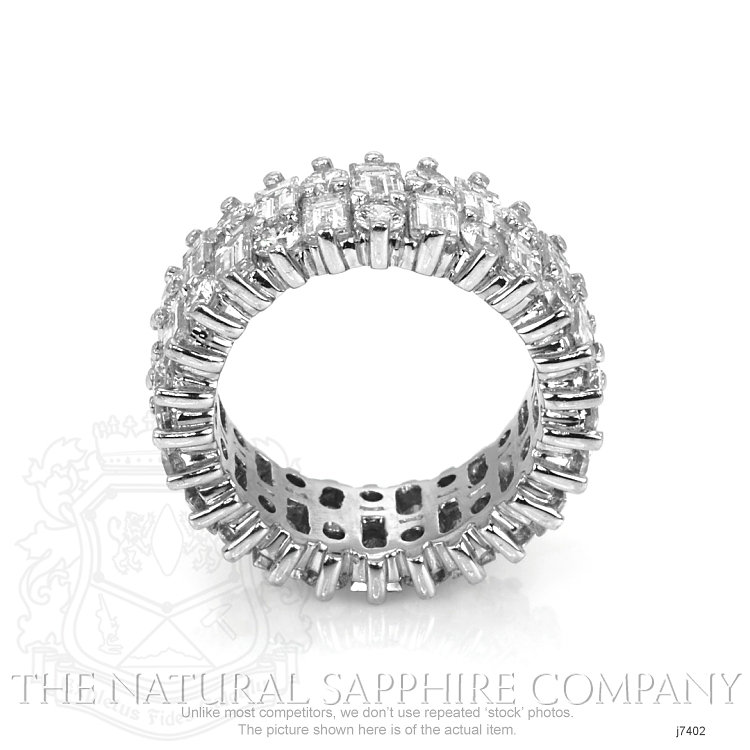 5.20ct White Diamond Band Image 4