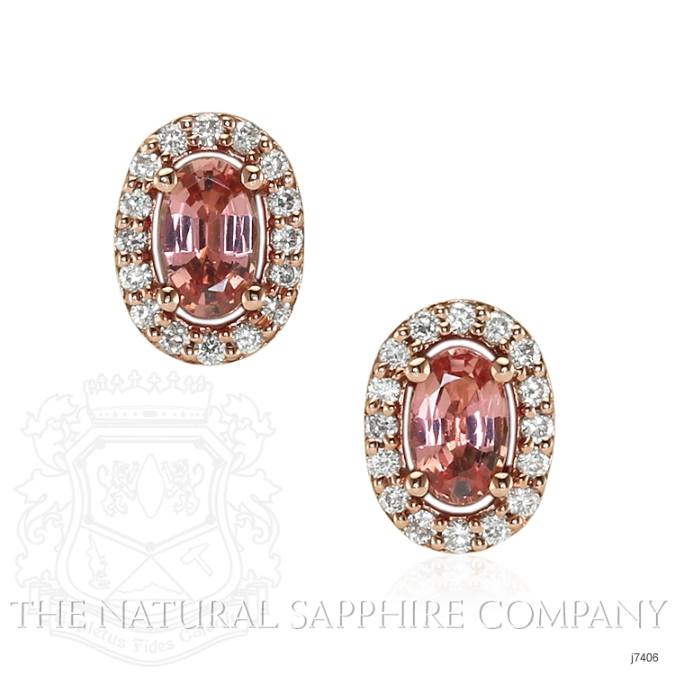 0.55ct Padparadscha Sapphire Earring Image
