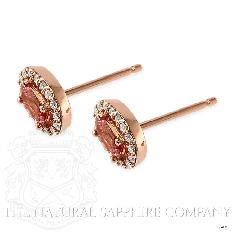 0.55ct Padparadscha Sapphire Earring Image 3