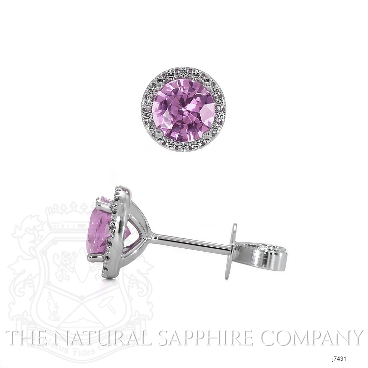 0.95ct Pink Sapphire Earring Image 2