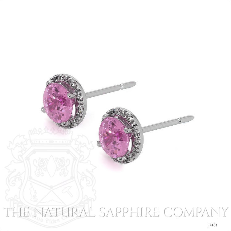 0.95ct Pink Sapphire Earring Image 3