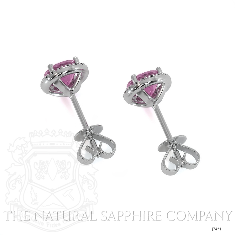 0.95ct Pink Sapphire Earring Image 4