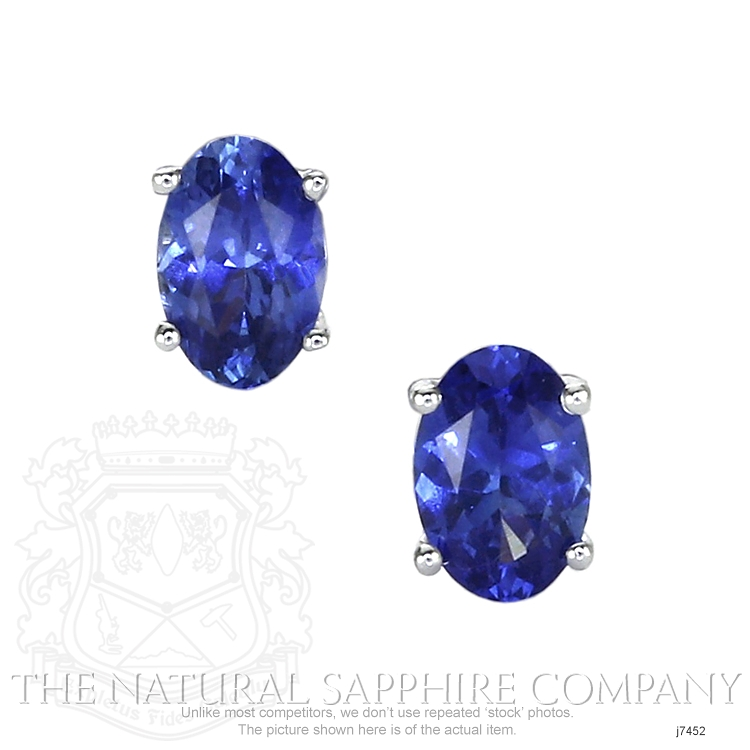 1.11ct Blue Sapphire Earring Image