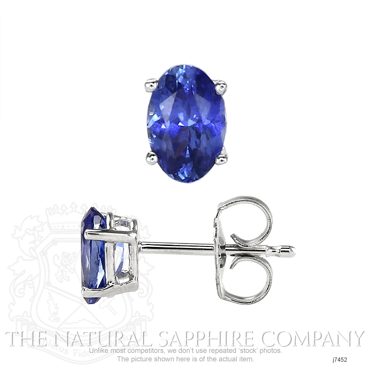 1.11ct Blue Sapphire Earring Image 2