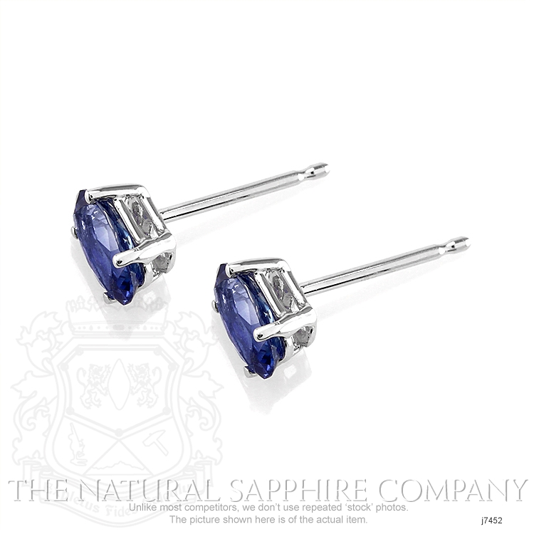 1.11ct Blue Sapphire Earring Image 3