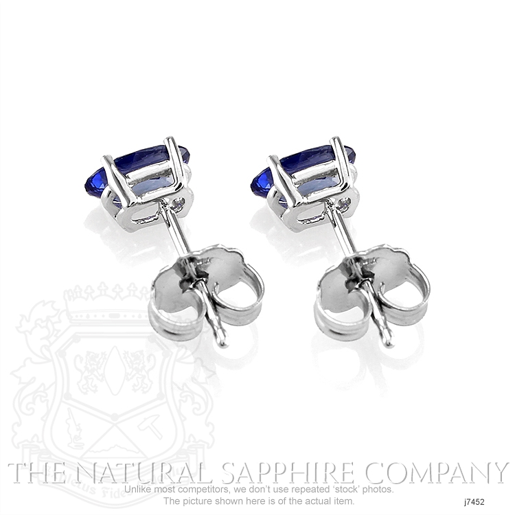 1.11ct Blue Sapphire Earring Image 4