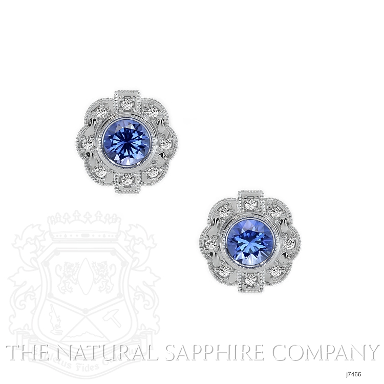 0.44ct Blue Sapphire Earring Image