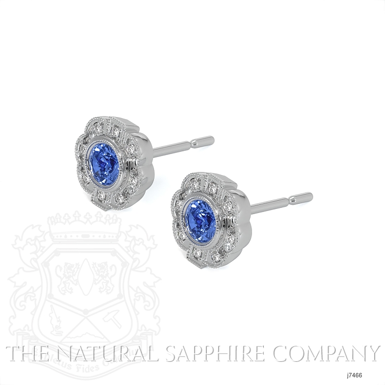 0.44ct Blue Sapphire Earring Image 3