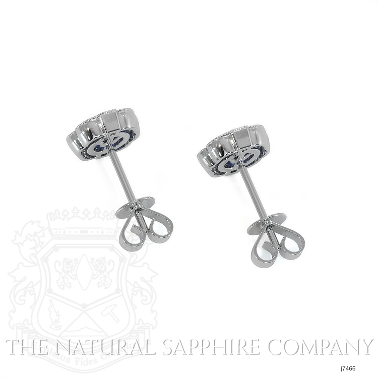 0.44ct Blue Sapphire Earring Image 4