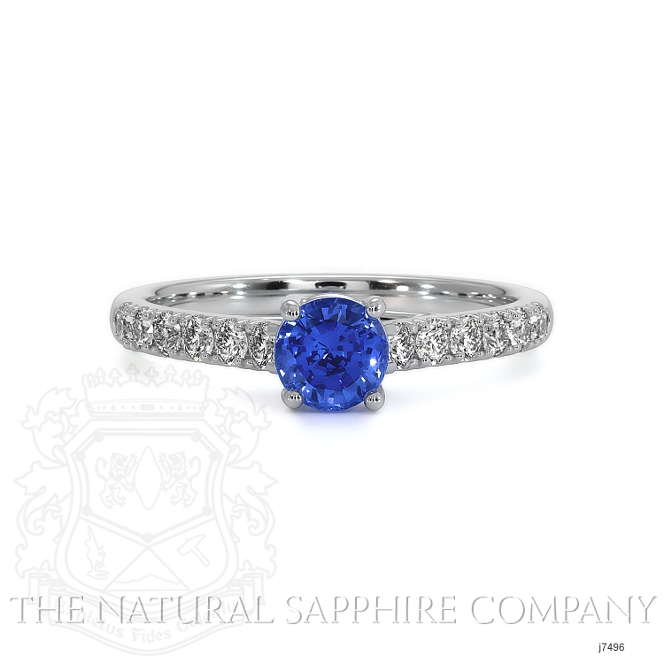 0.65ct Blue Sapphire Ring Image
