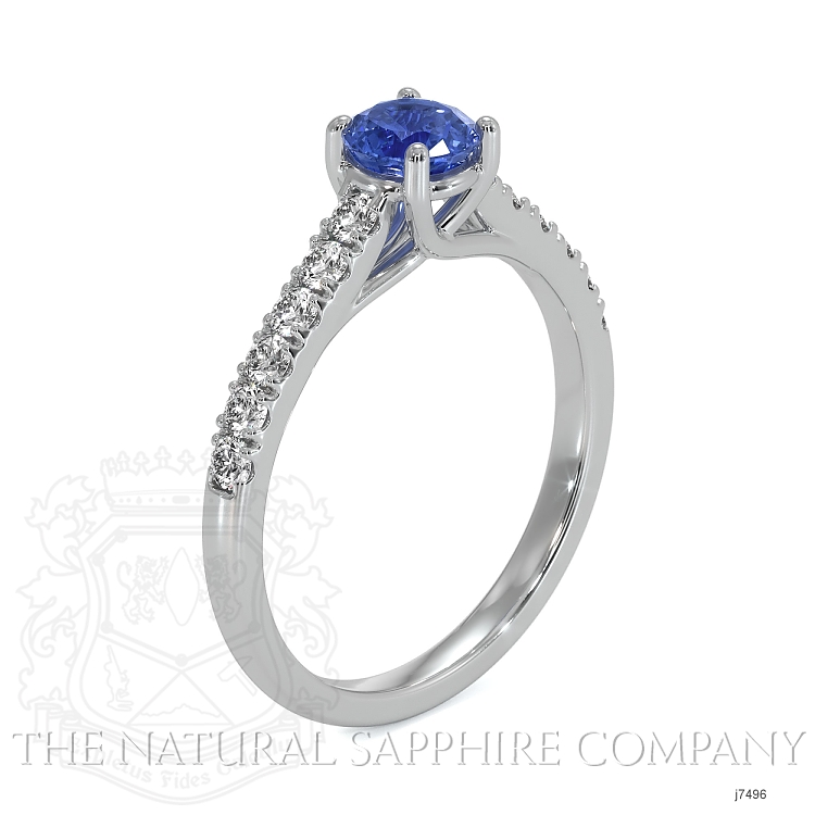 0.65ct Blue Sapphire Ring Image 2