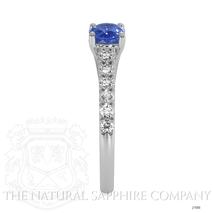0.65ct Blue Sapphire Ring Image 3