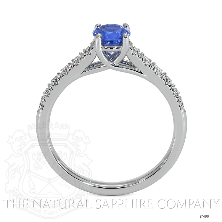 0.65ct Blue Sapphire Ring Image 4