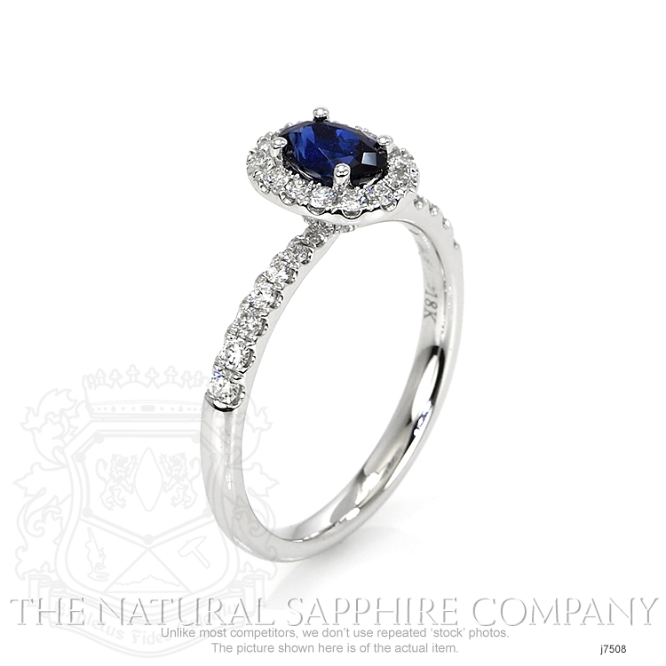 0.59ct Blue Sapphire Ring Image 2