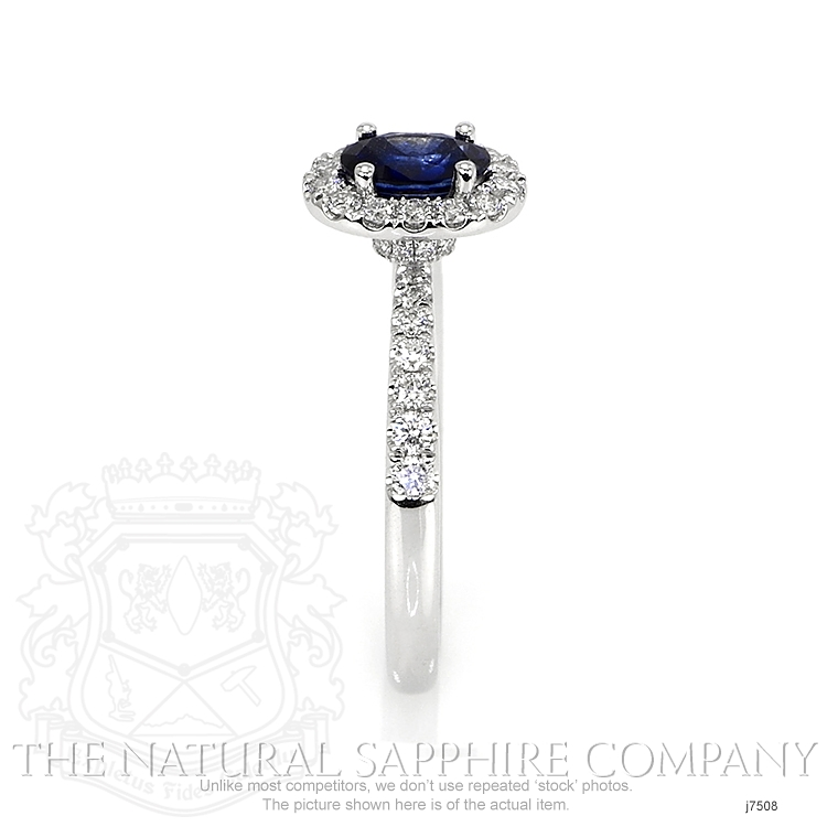 0.59ct Blue Sapphire Ring Image 3