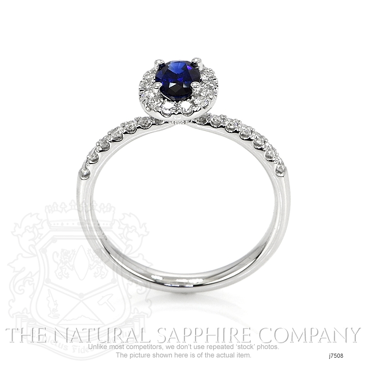 0.59ct Blue Sapphire Ring Image 4