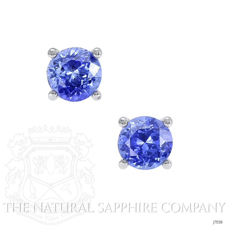 0.90ct Blue Sapphire Earring Image